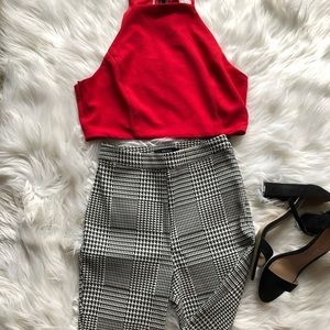 Forever 21 Black and White Pattern Skinny Pants
